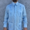 Blue Long Sleeved Guayabera