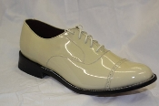 Patent Leather Dress Shoes, Cream, by Greenspan's