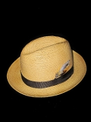 Center Crease Reg Brim Breathable Straw Hat Tan