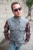 blue charcoal ombre Pendleton board shirt wool flannel photography by Josh Greenspan