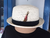 Center Crease Stingy Brim Breathable Straw White