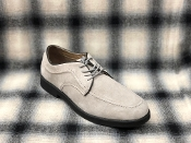 Hush Puppies Lace Up Suede Shoes Silver Gray