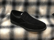Hush Puppies Suede Slip On Shoes Black