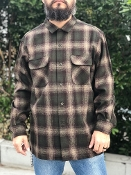 blue mix with ombre Pendleton board shirt all wool flannel 2016