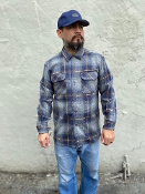 Pendleton Snapback Cap Grey Navy Brown With Solid Navy