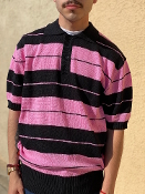 FB County Charlie Brown Polo Shirt Black/Pink