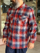 Spring 2021 Pendleton Board Shirt Navy Red Ombre Plaid