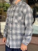 Spring 2021 Pendleton Board Shirt Grey Ombre Plaid