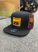 FB County Solid Black Embroidered Cap