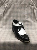 Stacy Adams Wingtip Daytons Patent Black and White